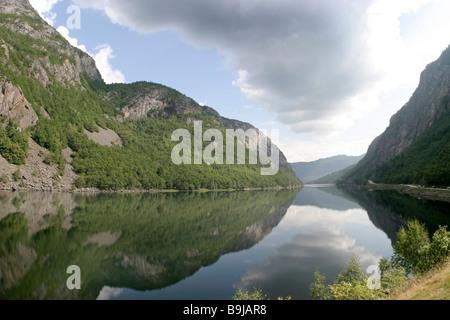 Fjord near Mandal, Norway, Scandinavia, Europe - Stock Photo