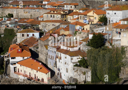 View of the historic centre of Porto from the district Vila Nova de Gaia, UNESCO World Heritage Site, Portugal, - Stock Photo