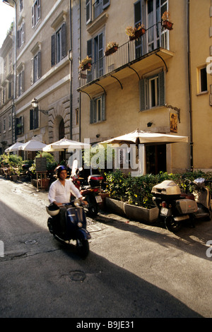Motor scooter in an alley, Rome, Italy, Europe - Stock Photo
