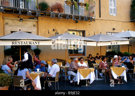 Bar, café, restaurant terrace on Piazza Navona Square in the city centre, Rome, Italy, Europe - Stock Photo