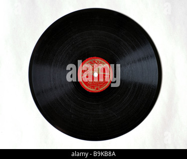 8 inch 78rpm record, 'Little Man You`ve Had a Busy Day' by Donald Peers - Stock Photo