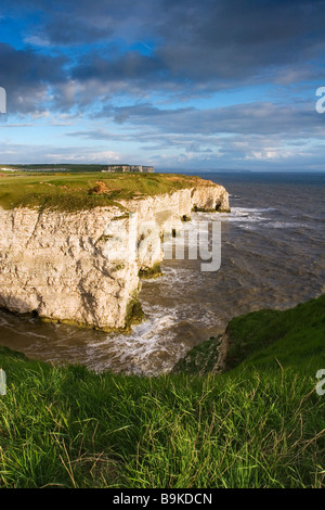 A view from Breil Nook of some of the chalk cliffs that are part of the Flamborough Headland Heritage Coast, Yorkshire - Stock Photo