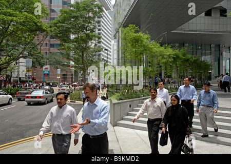 The Central Business District, Singapore - Stock Photo