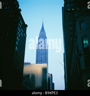 The Chrysler Building at dusk 405 Lexington Avenue, Manhattan, New York City, USA KATHY DEWITT - Stock Photo