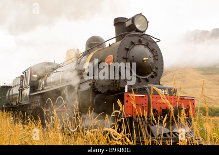 Kingston Flyer Steam Train New Zealand - Stock Photo