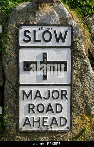 A roadsign, UK. - Stock Photo