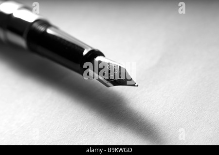 Pen on a paper Stock Photo