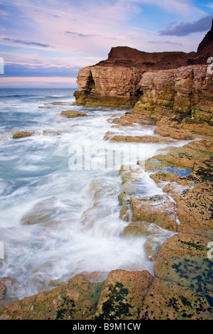 Evening at Thornwick Bay near Flamborough Head on the North Yorkshire coast Photographed in August - Stock Photo