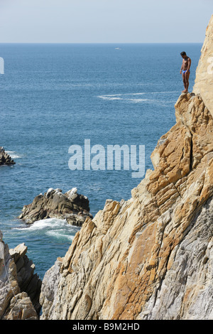 Acapulco Mexico Pacific Ocean cliff divers - Stock Photo