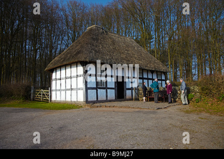 Abernodwydd Farmhouse, St Fagans National History Museum, South Wales, UK - Stock Photo