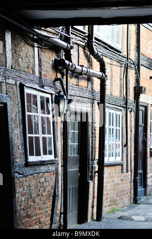 the high street henley in arden village warwickshire england uk - Stock Photo