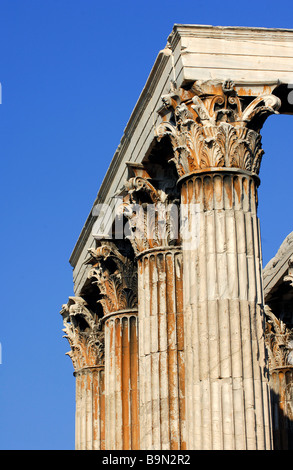 Greece, Attica, Athens, Olympieion, capital in Corinthian style - Stock Photo