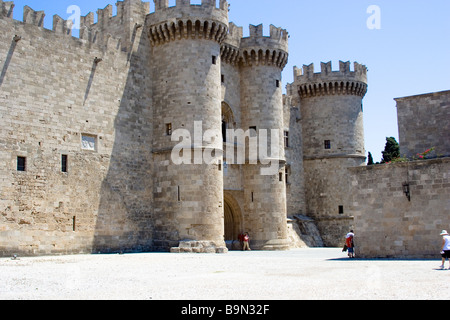Rhodes City, in the old part, the castle - Stock Photo