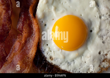 eggs and bacon for breakfast - Stock Photo