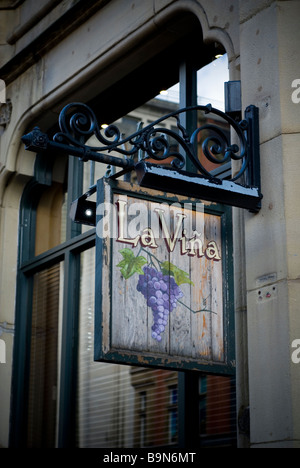La Vina Spanish restaurant and wine bar on Deansgate Manchester city centre UK - Stock Photo