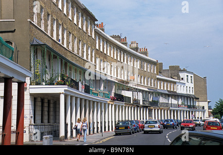 Ramsgate, Kent, Wellington Crescent, East Cliff. - Stock Photo