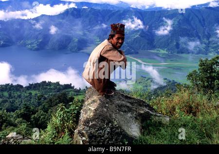 Nepal, Gandaki Zone, Kaski District, Annapurna area, Pokhara, Phewa Tal lake - Stock Photo