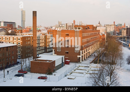 Materials Science Centre in winter with snow on ground The University of Manchester UK - Stock Photo