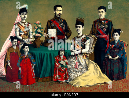 The Japanese imperial family circa 1900 - Stock Photo
