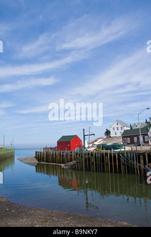 View of the harbour - Hall's Harbour, Nova Scotia, Canada. - Stock Photo