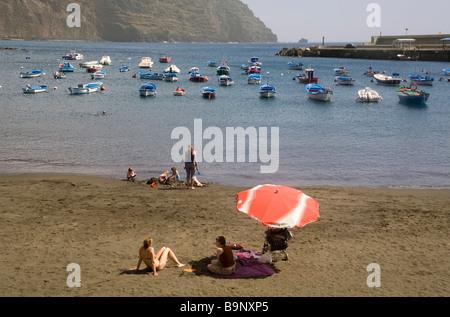 Spain Canary Islands La Gomera Valle Gran Rey Playa de Vueltas - Stock Photo