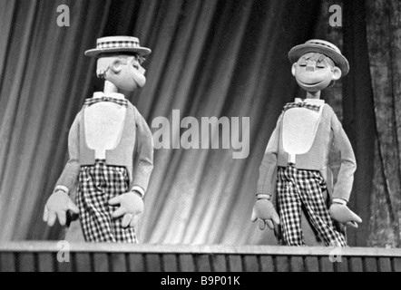 An Unusual Concert staged by Sergei Obraztsov People s Artist of the USSR art director of the State Central Puppet - Stock Photo