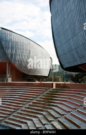 The shells of the new Auditorium Rome designed by leading Italian architect Renzo Piano - Stock Photo