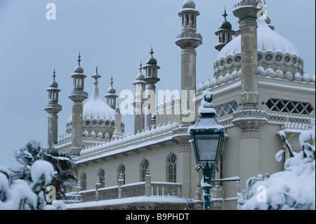 Snow in Brighton Picture by Andrew Hasson February 2nd 2009 - Stock Photo
