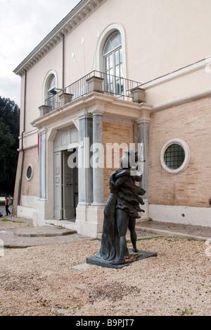 Scuplture of Ettore e Andromaca (Hector and Andromeda) but the artist Giorgio de Chirico, 2006 version of an original - Stock Photo