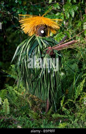 Papua New Guinea, Bismarck archipelago, New Brittany island, Merai, Baining tribe, Kairak clan, Awan, the Zwarte - Stock Photo