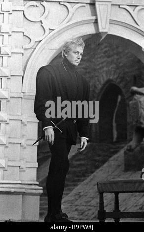 Actor Innokenty Smoktunovsky as Hamlet in film Hamlet - Stock Photo