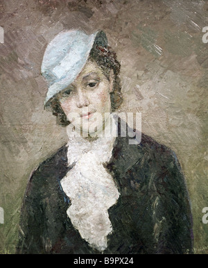 Robert Falk 1886 1958 A Lady of Paris Painting 1936 - Stock Photo