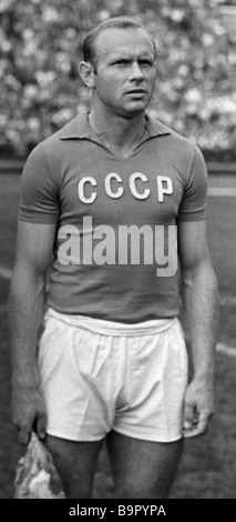 Eduard Streltsov a forward with the USSR national football team and the Torpedo team Moscow - Stock Photo