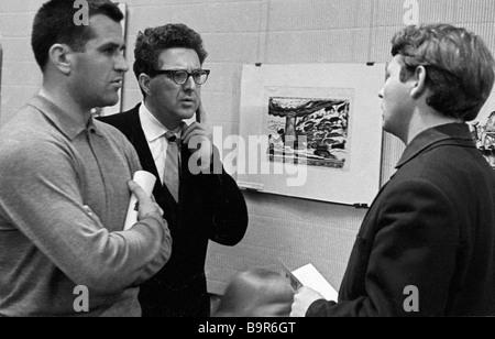 Soviet graphic artists students of Vladimir Favorsky G Zakharov I Golitsyn and I Obrosov - Stock Photo