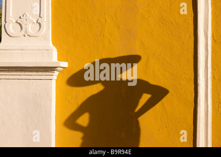 Mexico, Campeche State, Campeche City, young woman wearing a hat - Stock Photo