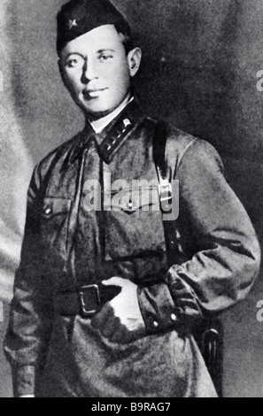 Soviet writer Mikhail Sholokhov as Pravda war correspondent - Stock Photo