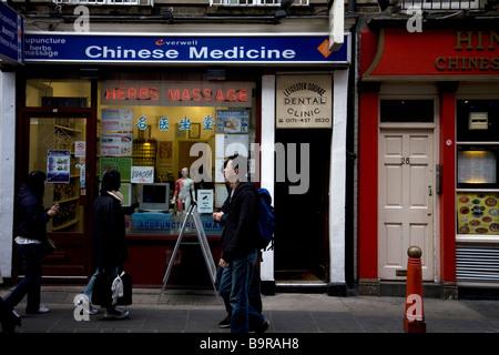Chinatown Soho London England - Stock Photo
