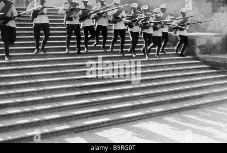 A scene from the film The Battleship Potemkin - Stock Photo