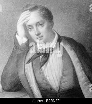 Russian poet Yevgeny Baratynsky 1800 1844 - Stock Photo