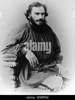 Russian writer Leo Tolstoy 1828 1910 - Stock Photo