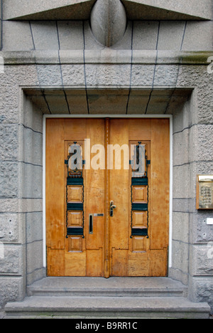 Characteristic Dutch Carved Wooden Doors Amsterdam - Stock Photo