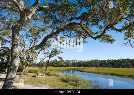 Clam Creek Picnic Area, Jekyll Island, Georgia, USA - Stock Photo