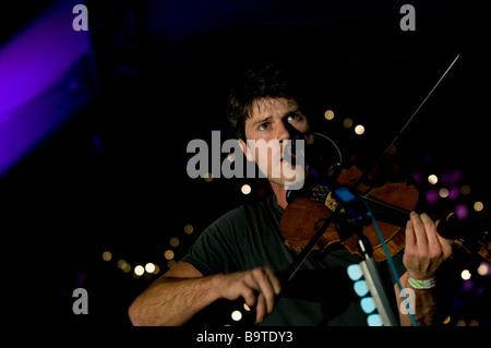 Seth Lakeman performing at the Moseley Folk Festival in Birmingham in 2008 - Stock Photo