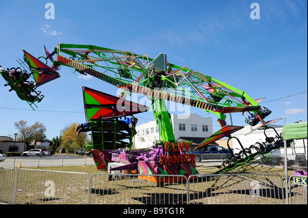 Carnival Rides And Games On The Midway At The Missouri