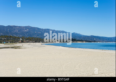 Beach viewed from Stearns Wharf Santa Barbara California USA - Stock Photo