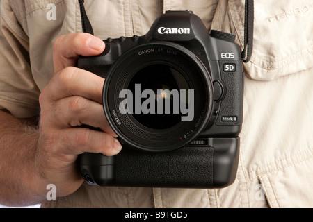 Photography Canon 5d mk2 digital slr camera - Stock Photo