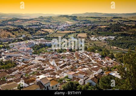 View from the Castle of Jimena de la Frontera Cádiz Andalusia Spain - Stock Photo