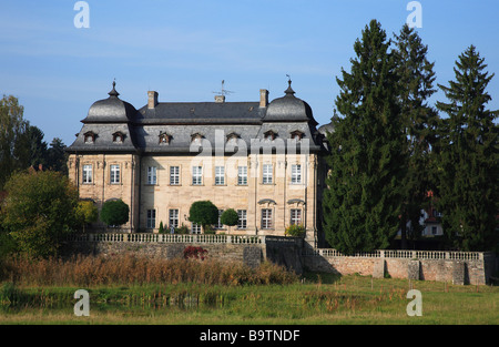 Castle of Burgwindheim near Bamberg Upper Frankonia Bavaria Germany - Stock Photo