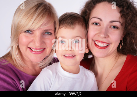 grandmother, mother, baby - Stock Photo
