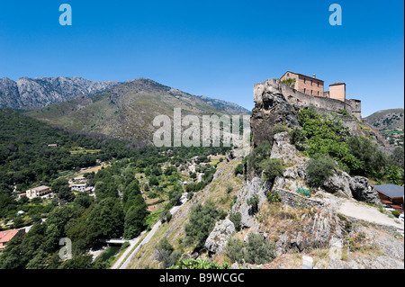 The citadelle in the haute ville (old town), Corte (the former independent capital), Central Corsica, France - Stock Photo